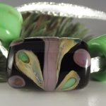 """BHB Purple Grasshopper Trio"" 3 Big Hole Bead set"