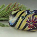 """BHB Striped Murrini"" big hole bead"