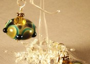 "Earrings ""Falling for Teal"" Glass Art Revealed"