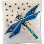 Glass Art Revealed Dragonfly