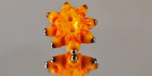 Glass Art Revealed glass button