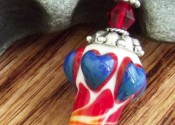 Blue hearts lampwork pendant with sterling silver accents is one of my new favorites!