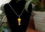 "A bright and happy pendant from my new line Live Life Like an Exclamation!! I called it ""Sunny Yellow Smiles"""